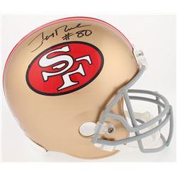 Jerry Rice Signed 49ers Throwback Full-Size Helmet (Beckett COA)