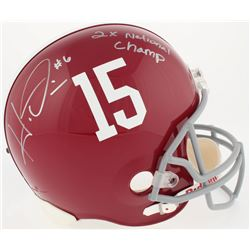 "Ha Ha Clinton-Dix Signed Alabama Crimson Tide Full-Size Helmet Inscribed ""2x National Champ"" (Clinto"