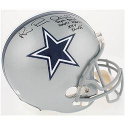 """Michael """"Playmaker"""" Irvin Signed Cowboys Full-Size Helmet Inscribed """" Super Bowl XXVII, XXVIII, XXX"""