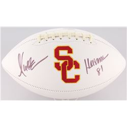 "Marcus Allen Signed USC Trojans Logo Football Inscribed ""Heisman 81"" (Radtke COA)"