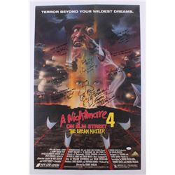 """""""A Nightmare on Elm Street 4: The Dream Master"""" 22x34 Poster Signed by (8) Including Robert Englund,"""