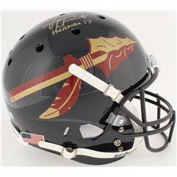 "Jameis Winston Signed Florida State Seminoles Full-Size Helmet Inscribed ""Heisman 13"" (Winston Holog"