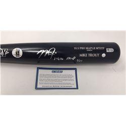 """Mike Trout Signed Old Hickory Game Model MT27P Baseball Bat Inscribed """"14, 16 MVP"""" (Steiner Hologram"""