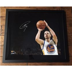 "Stephen Curry Signed Warriors ""3 Point Shot"" 20x24 Custom Framed Limited Edition Photo (Steiner COA)"