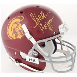 """Marcus Allen Signed USC Trojans Full-Size Helmet Inscribed """"Heisman 81"""" (Radtke COA  Allen Hologram)"""