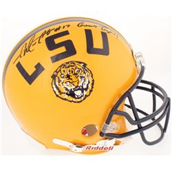 "Morris Claiborne Signed LSU Tigers Authentic On-Field Full-Size Helmet Inscribed ""Geaux Tigers!"" (Ra"