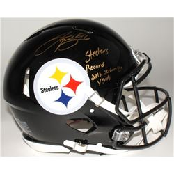 "Le'Veon Bell Signed Steelers Limited Edition Full-Size Authentic On-Field Speed Helmet Inscribed ""St"