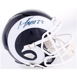 Marcus Peters Signed Rams Full-Size Speed Helmet (JSA COA)