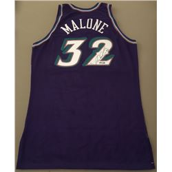 Karl Malone Signed Limited Edition 1999-2000 Authentic Champion Pro-Cut Jazz Jersey (UDA COA)