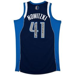 "Dirk Nowitzki Signed Mavericks Limited Edition Revolution Jersey Inscribed ""MVP 06/07"" (UDA COA)"