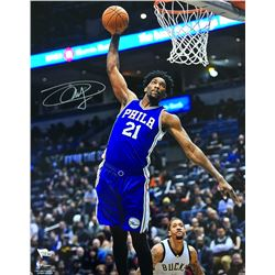 Joel Embiid Signed 76ers 16x20 Photo (Fanatics Hologram)