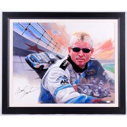 "Mark Martin Signed ""Mark Martin"" 29.75x35.75 Custom Framed Original Oil Painting on Canvas (JSA COA)"