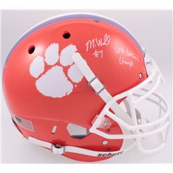 "Mike Williams Signed Clemson Tigers Full-Size Authentic On-Field Helmet Inscribed ""2016 National Cha"
