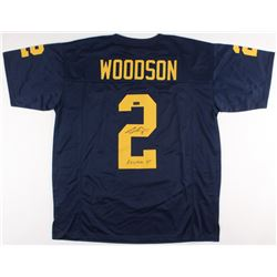 "Charles Woodson Signed Michigan Wolverines Jersey Inscribed ""Heisman 97"" (Radtke COA)"