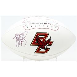 Luke Kuechly Signed Boston College Eagles Logo Football (JSA COA)