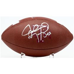 Johnny Manziel Signed Texas AM Aggies Logo Football (PSA COA)
