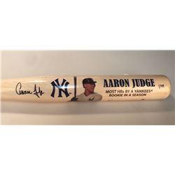 Aaron Judge Signed LE Yankees Commemorative Home Run Baseball Bat (Fanatics Hologram)
