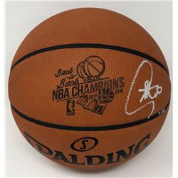 """Stephen Curry Signed LE """"Back-to-Back NBA Champions"""" Official NBA Game Ball (Steiner COA)"""