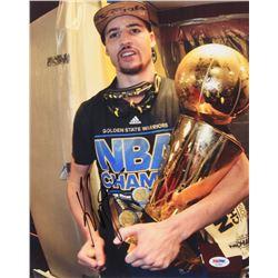 Klay Thompson Signed Golden State Warriors 11x14 Photo (PSA COA)
