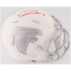 Calvin Ridley Signed Falcons White ICE Speed Mini Helmet (Radtke COA  Ridley Hologram)