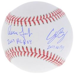 "Aaron Judge  Cody Bellinger Signed Baseball Inscribed ""2017 AL ROY""  ""2017 NL ROY"" (Fanatics Hologra"