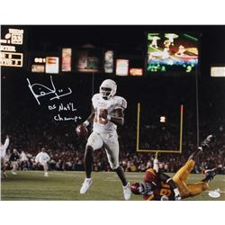 Vince Young Signed Texas Longhorns 16x20 Photo Inscribed  05 Nat'l Champs  (JSA Hologram)