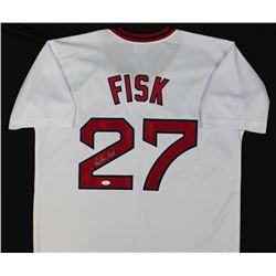 Carlton Fisk Signed Red Sox Baseball Jersey (JSA COA)