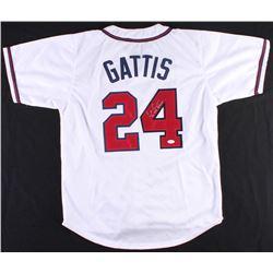 "Evan Gattis Signed Braves Jersey Inscribed ""el Oso Blanco"" (JSA COA)"