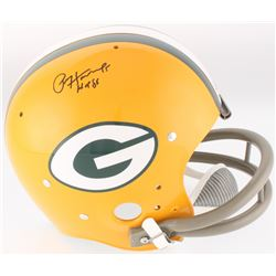 "Paul Hornung Signed Packers Throwback TK Full-Size Suspension Helmet Inscribed ""HOF 86"" (JSA COA)"