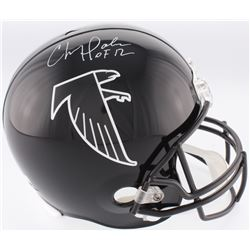 "Chris Doleman Signed Falcons Full-Size Throwback Helmet Inscribed ""HOF 12"" (Radtke COA)"