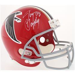 Tony Gonzalez Signed Falcons Full-Size Helmet (Radtke COA)