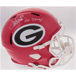 "Terrell Davis Signed University of Georgia Bulldogs Full-Size Helmet Inscribed ""Go Dawgs"" (Radtke CO"