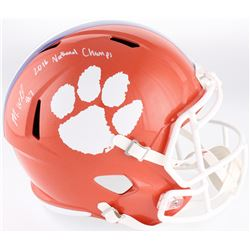 "Mike Williams Signed Clemson Tigers Full-Size Speed Helmet Inscribed ""2016 National Champs"" (Fanatic"