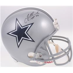 "Troy Aikman Signed Dallas Cowboys Full-Size Helmet Inscribed ""HOF '06"" (Radtke COA  Aikman Hologram)"