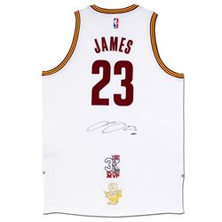 """LeBron James Signed Cavaliers Adidas """"3x MVP""""  """"16 Finals"""" Patch Jersey (UDA COA)"""