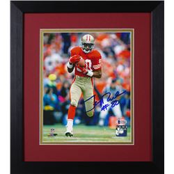 Jerry Rice Signed 49ers 13.75x15.5 Custom Framed Photo Display (Beckett COA)