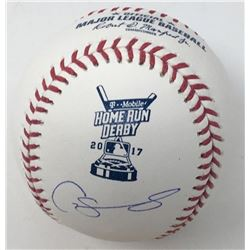 Gary Sanchez Signed 2017 Home Run Derby OML Baseball (Steiner COA)