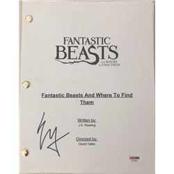 Ezra Miller Signed  Fantastic Beats and Where to Find Them  Movie Full Script (PSA COA)