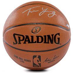 Trae Young Signed NBA Game Ball Series Basketball (Panini COA)