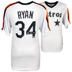 "Nolan Ryan Signed Astros Majestic Jersey Inscribed ""H.O.F. '99"" (MLB Hologram)"