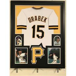 Doug Drabek Signed Pirates 34x42 Custom Framed Jersey (JSA COA)