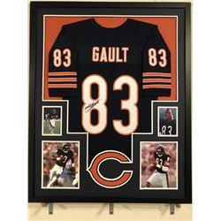 Willie Gault Signed Bears 34x42 Custom Framed Jersey (JSA COA)