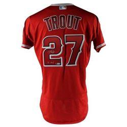 "Mike Trout Signed LE Angels Jersey Inscribed ""16 MVP"" (MLB Hologram  Steiner COA)"