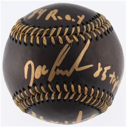 """Dwight """"Doc"""" Gooden Signed OML Black Leather Baseball Inscribed """"84 R.O.Y."""", """"85 Triple Crown"""",  """"86"""