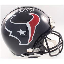 J.J. Watt Signed Texans Full-Size Authentic On-Field Helmet (JSA COA, Denver Autographs COA  Watt Ho