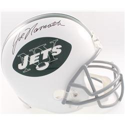 Joe Namath Signed Jets Full-Size Helmet (JSA COA  Denver Autographs COA)