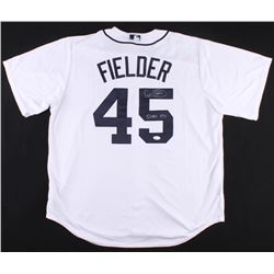 "Cecil Fielder Signed Tigers Jersey Inscribed ""51 HRS 1990"" (JSA COA)"