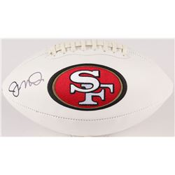 Joe Montana Signed 49ers Logo Football (JSA COA)