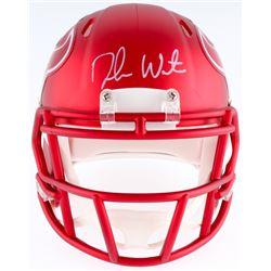 Deshaun Watson Signed Texans Blaze Mini Helmet (Beckett COA  Watson Hologram)