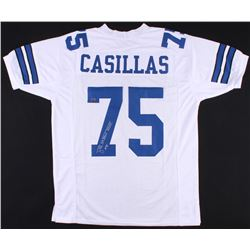 "Tony Casillas Signed Cowboys Jersey Inscribed ""SB XXVII XXVIII Champs"" (Jersey Source Hologram)"